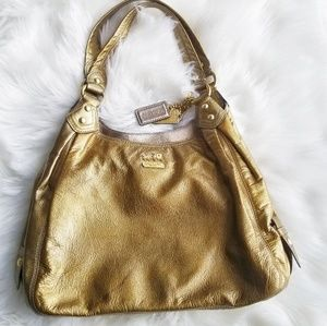 Coach | Gold Madison Patent Leather Tote
